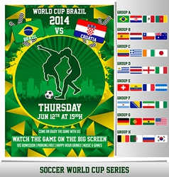 World Cup 2014 Flyer vector image