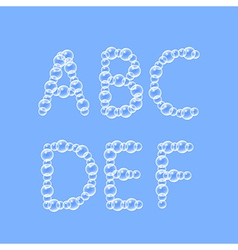Alphabet of air bubbles vector