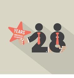 28 years anniversary typography design vector