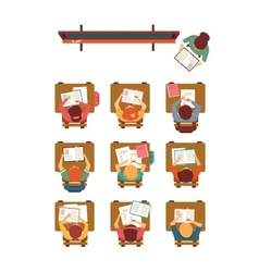 Classroom top view in flat design vector