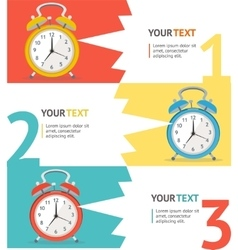 Wake up clock option banner vector