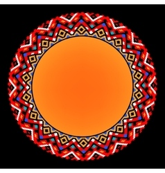 Colorful ethnic sun geometric aztec circle vector image