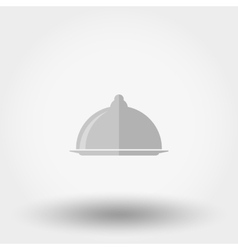 Serving dish with a lid icon vector