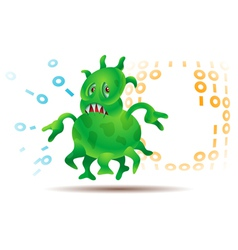 Virus or Microbe vector image