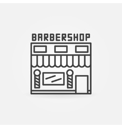 Barbershop building icon vector