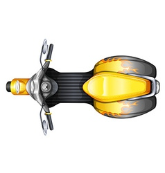 A topview of a scooter vector image