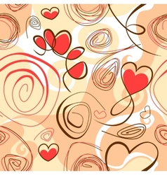 Abstract background with heart shapes vector image vector image