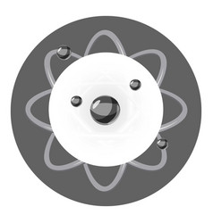 atom icon cartoon style vector image
