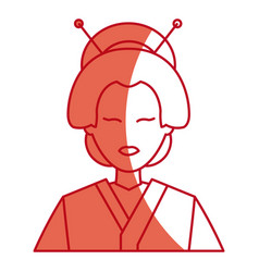 Character japanese girl geisha traditional vector
