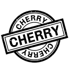 Cherry rubber stamp vector