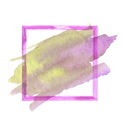 colorful watercolor grunge frame vector image