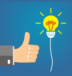 Concept idea - leadership approves the idea vector