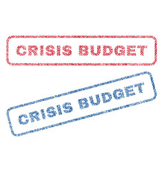 Crisis budget textile stamps vector