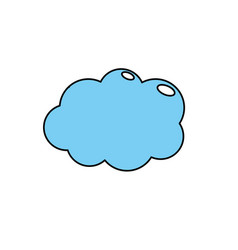 cute cloud weather design icon vector image vector image
