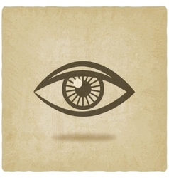 Eye symbol old background vector