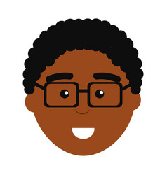 Face professional man with glasses vector