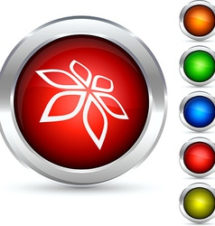 Flower button vector image vector image