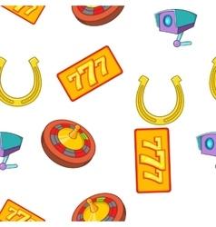 Gambling elements pattern cartoon style vector