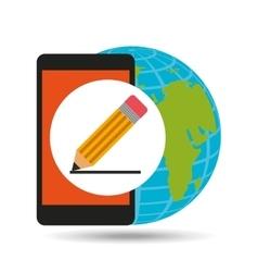 global writing social network vector image