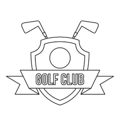 Golf club icon outline style vector image