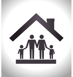 house family insurance vector image