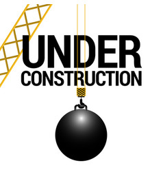 Isolated wrecking ball vector