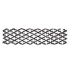 Lattice design as trellis vintage engraving vector