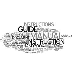 Manual word cloud concept vector