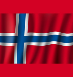norway 3d flag background national symbol vector image vector image