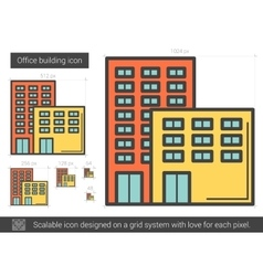Office building line icon vector image