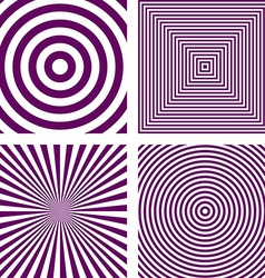 Purple striped pattern background set vector