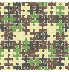 puzzle camouflage seamless pattern vector image vector image