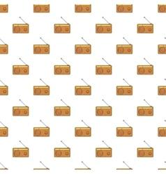 Retro style radio receiver pattern cartoon style vector