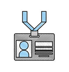 Safety card press icon vector