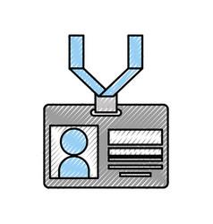 Safety card press icon vector