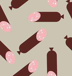 Sausage pattern seamless wurst endless print vector