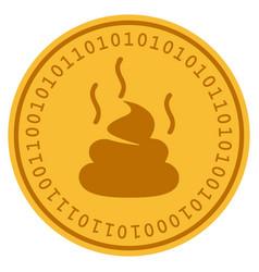 Shit smell digital coin vector