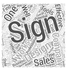Signs Word Cloud Concept vector image