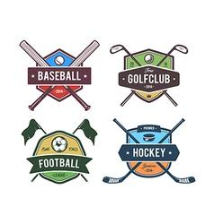 Sport emblems 2 vector
