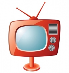 TV set vector image vector image