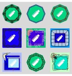 Usb sign icon flash drive stick symbol set vector
