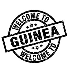 Welcome to guinea black stamp vector