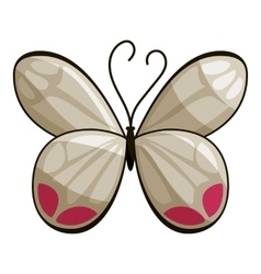White butterfly icon cartoon style vector image vector image
