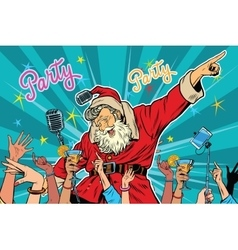 Christmas party santa claus singer vector
