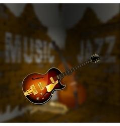 Jazz music corner brick wall blurred background vector image