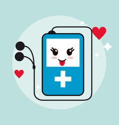 mp3 kawaii cartoon happy cute icon graphic vector image