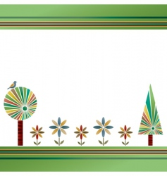 flowers and trees vector image