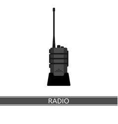 Two way radio icon vector