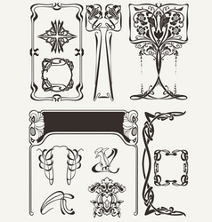 Set of art deco elements vector