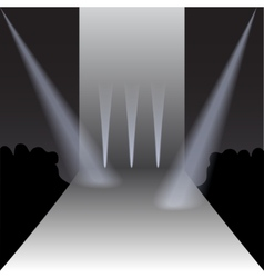 Podium with Spotlights and Spectators vector image